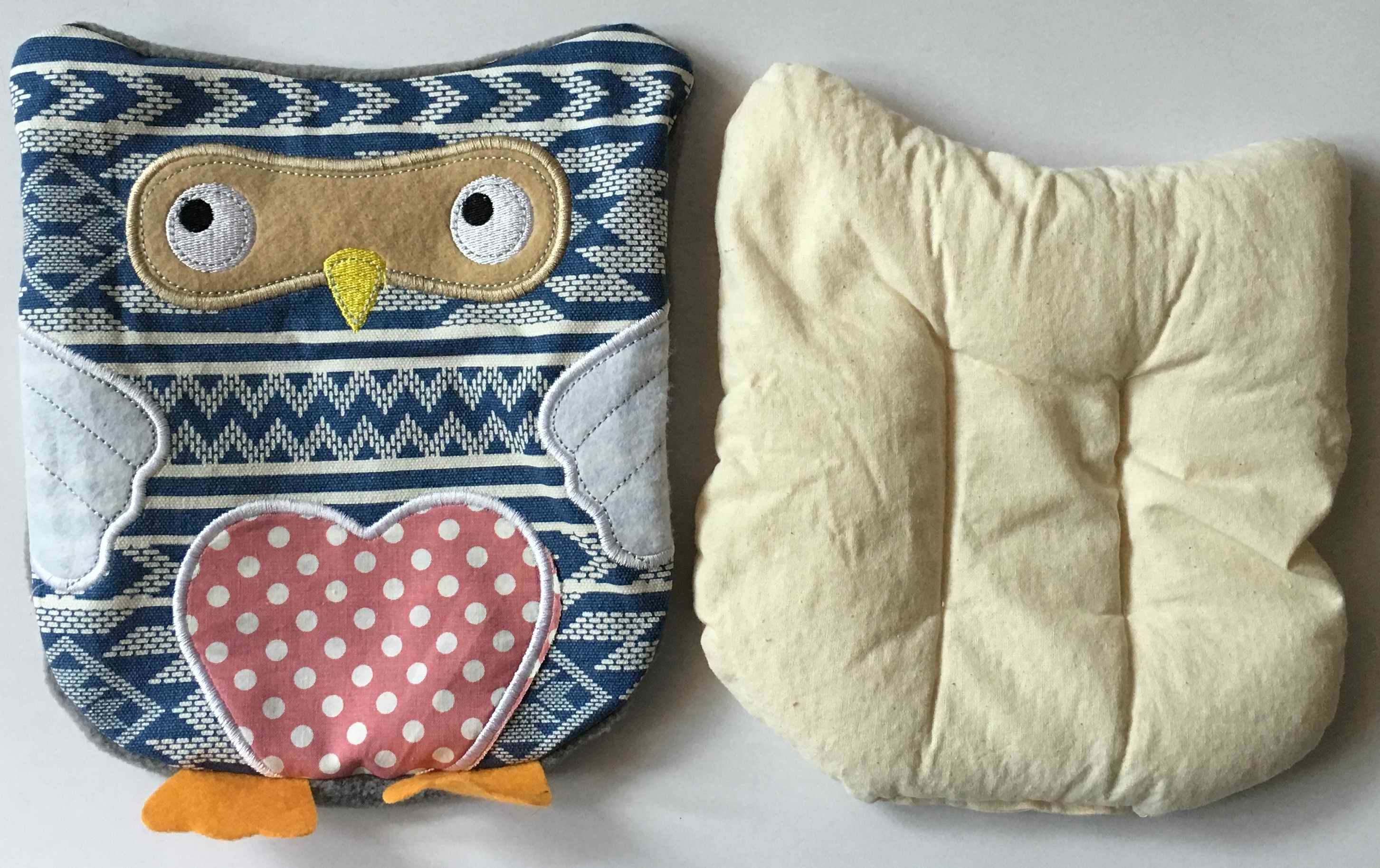 China Owl Cover With Microwave Heating Bag Cherry Stone