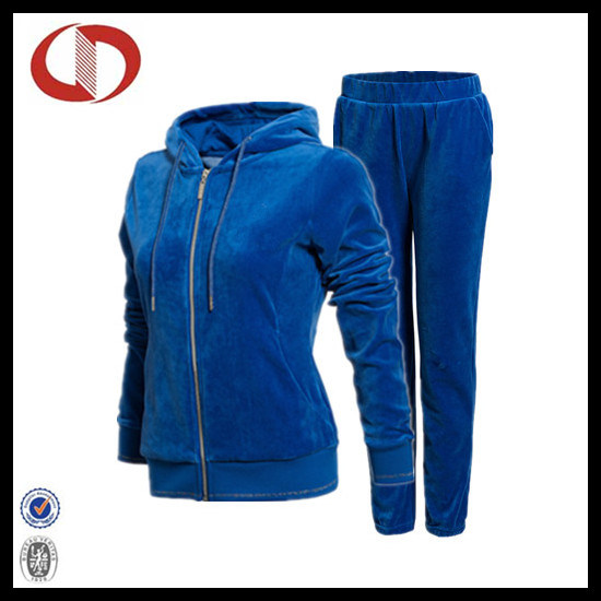 China High Quality Womens Velour Tracksuit 2016 - China Track Suit ... feb52a7c92