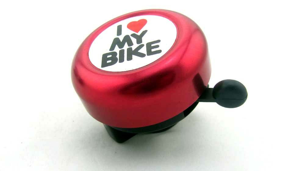 I Love My Bike Promotional Aluminium Bicycle Bell