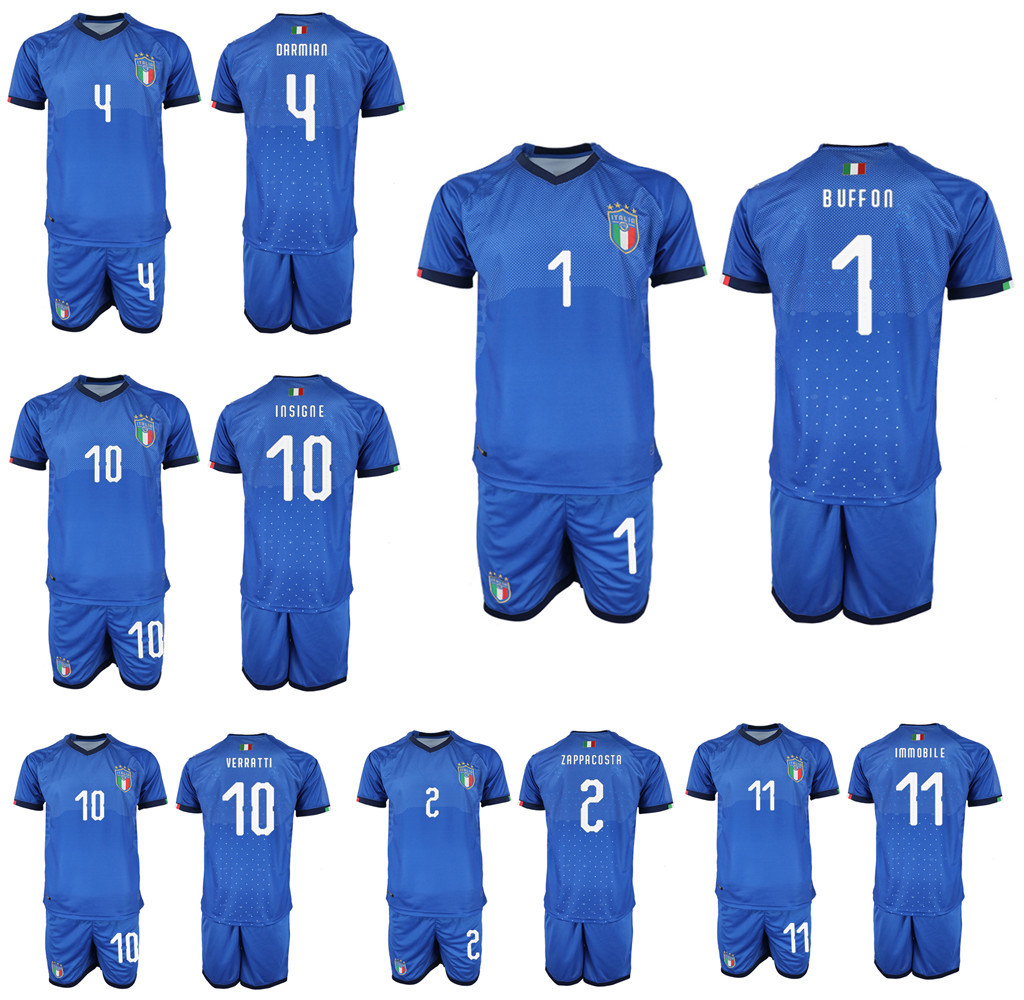 watch 063db 26319 [Hot Item] 2019 Italy Soccer Jerseys Insigne Verratti Home Away Football  Jersey Shirts