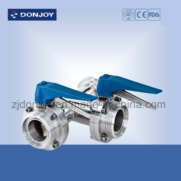 Ss316L Stainless Steel Clamped Direct Way Butterfly Valve pictures & photos