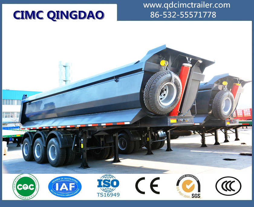 3 Axle U Shape Dump Semi Trailer Tipper Semi Trailer