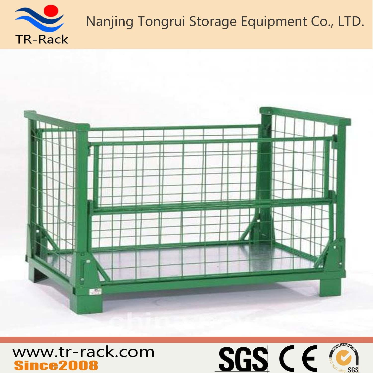 China Foldable Metal Warehouse Cargo Stackable Storage Cages   China Storage  Cage, Warehouse Cage