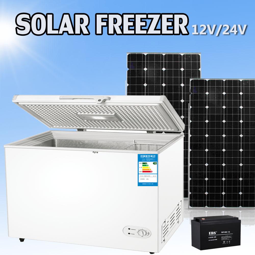China 12 24v Dc 350l Solar Powered Deep Freezer China