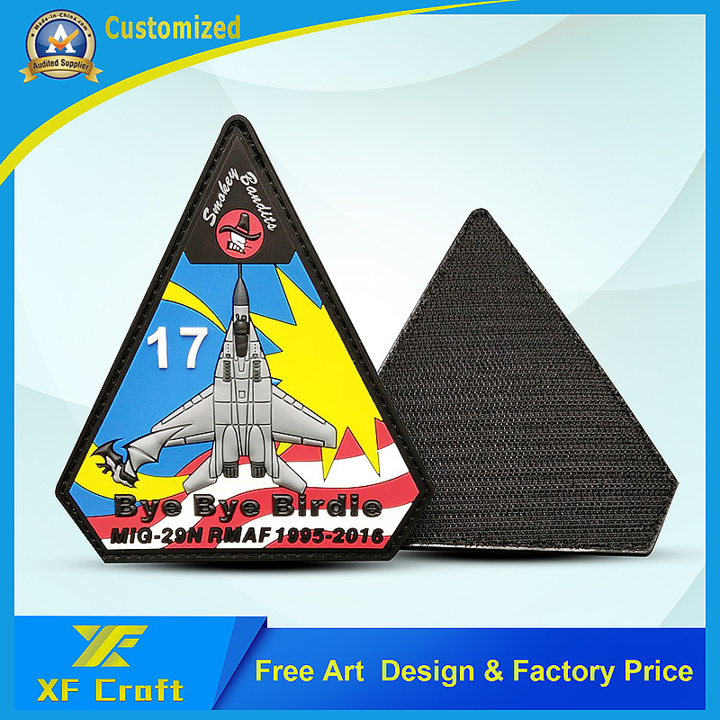 Promotion Custom Military 3D Logo Garment Label Fashion PVC Rubber Patch Badge for Clothing (XF-PT04) pictures & photos