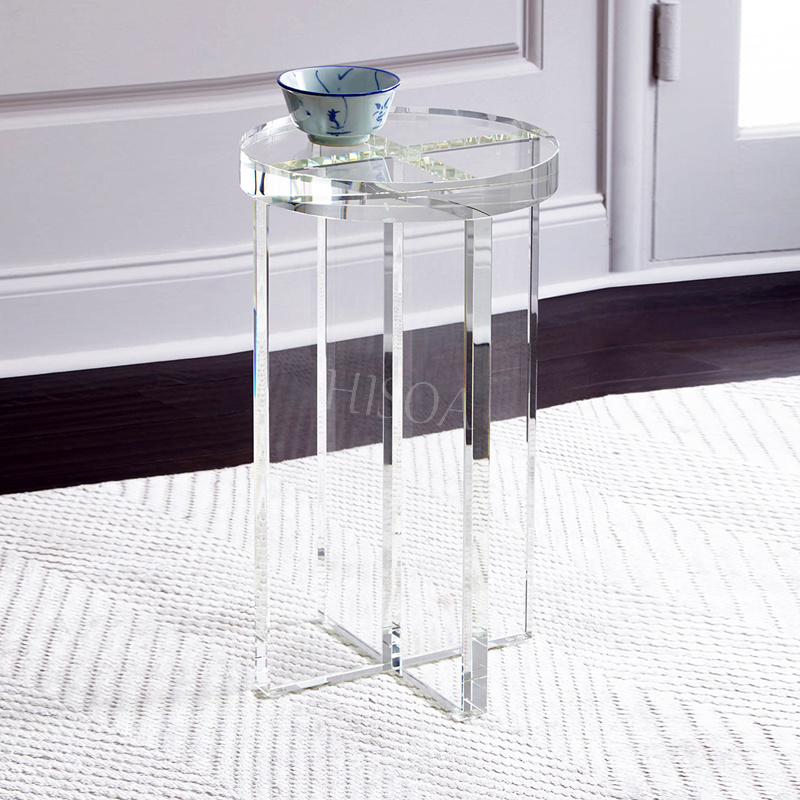 China Acrylic Coffee Table, Round Acrylic Coffee Table