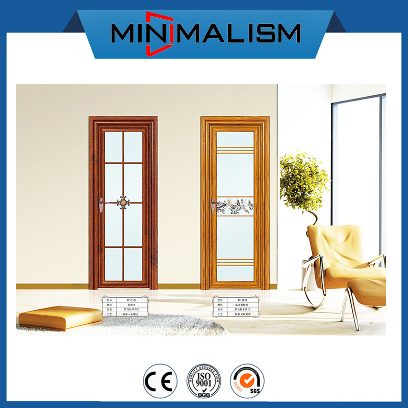 China High End Design Price Wooden Bathroom Door China Aluminum Toilet Door Bathroom Door