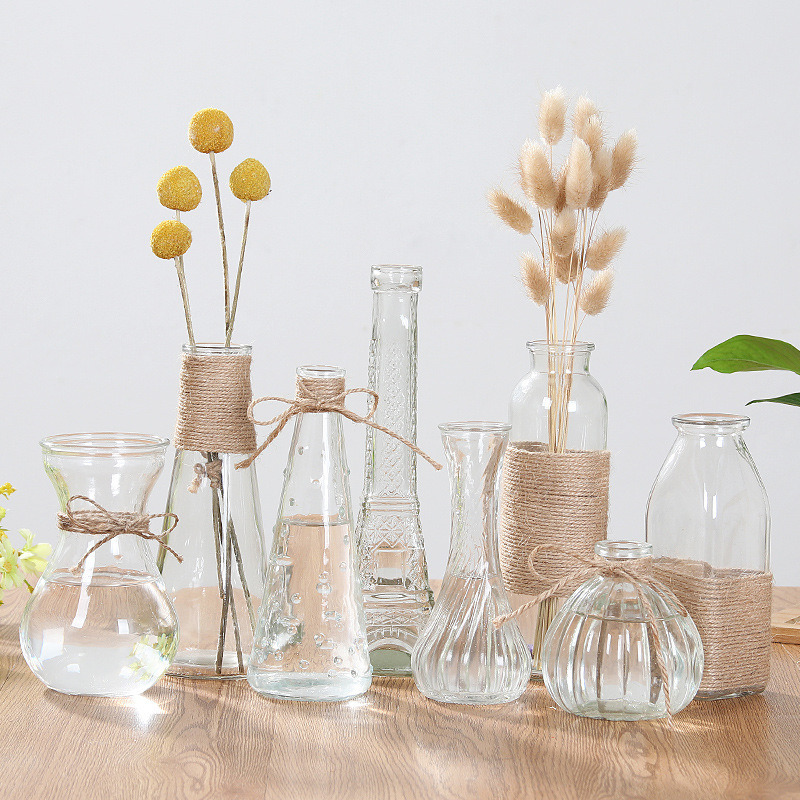 China Table Hydroponic Plant Glass Vase Decoration Rich Bamboo Creative Flower Arrangement Bottle China Glass Bottle And Water Bottle Price