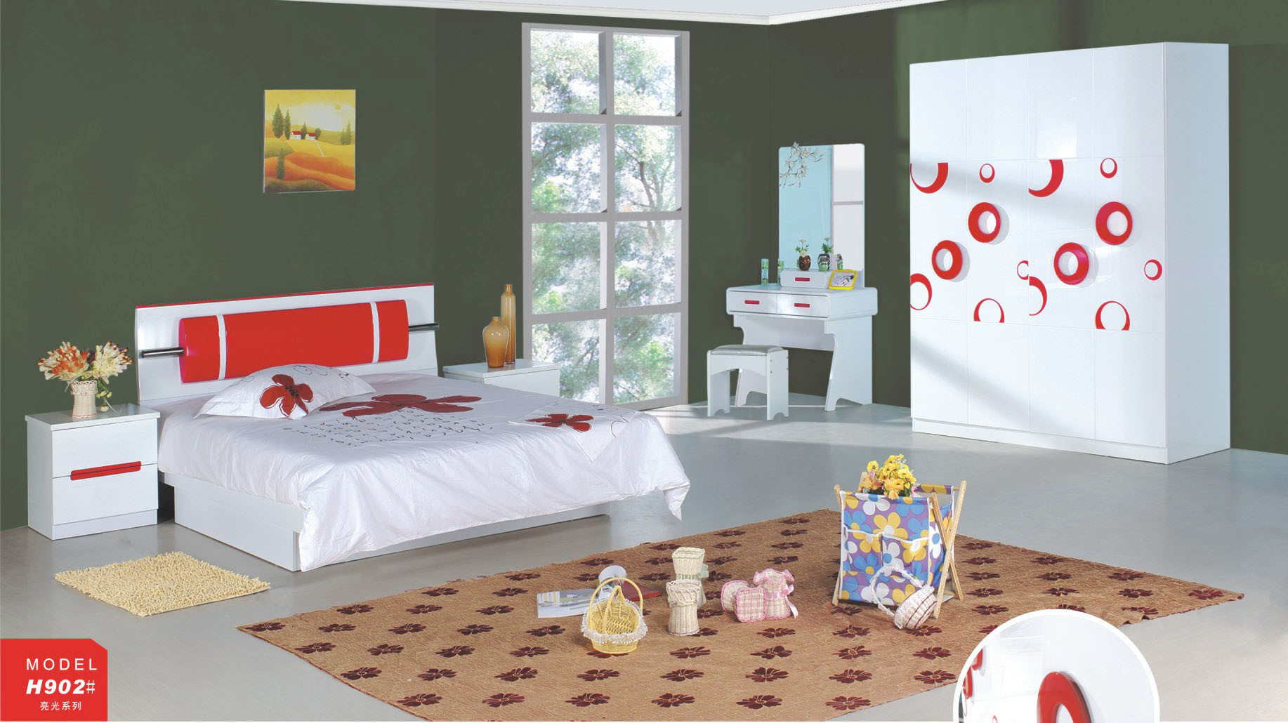 china children bedroom set (jfh-902) - china modern children bedroom sets, modern children