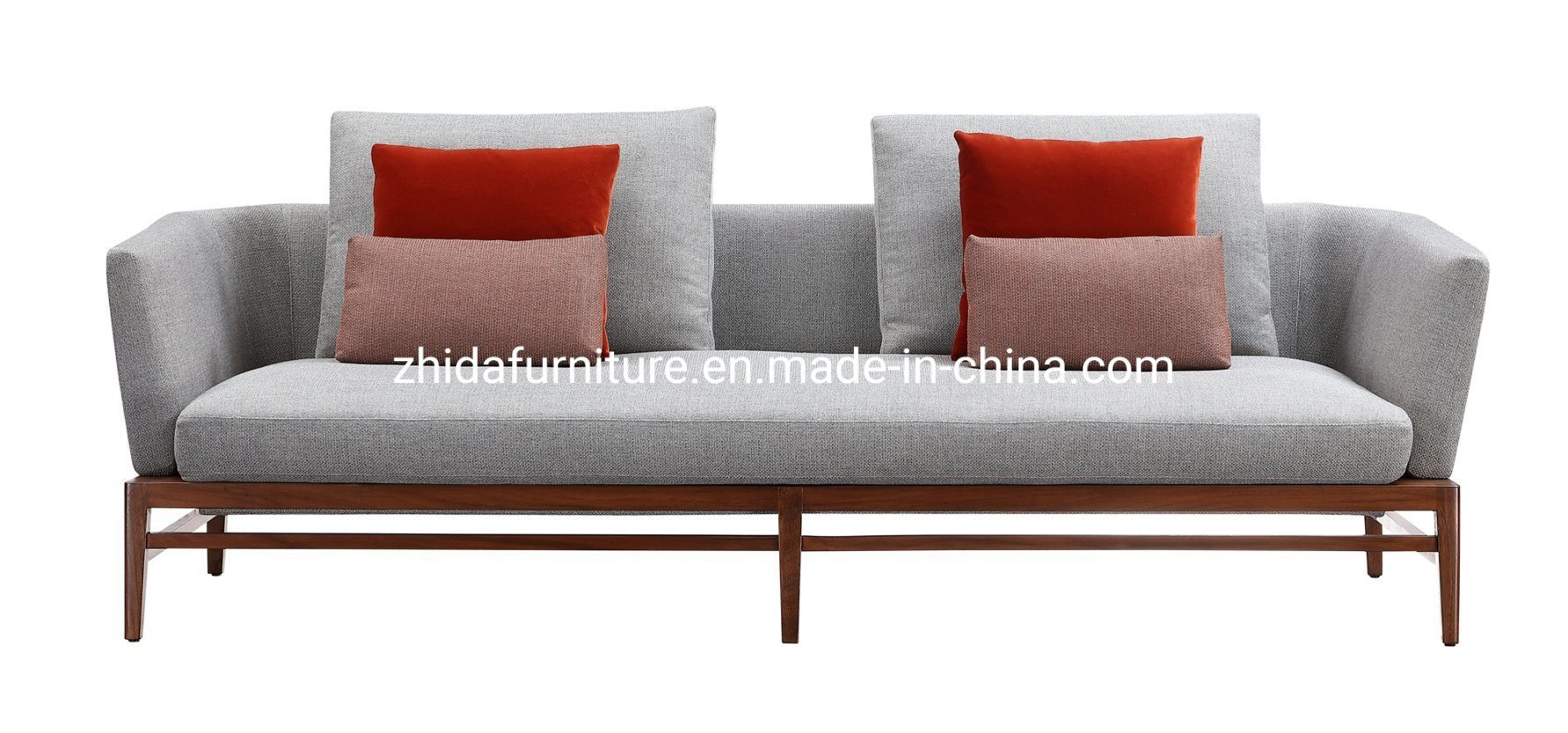- China Foshan Living Room Modern Fabric Leather Sofa Furniture