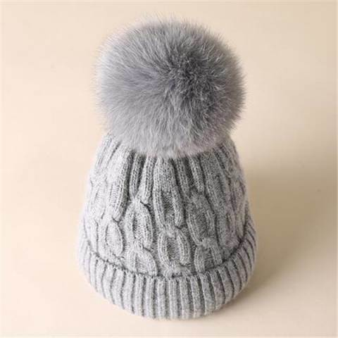 6a494121db4dc China Wholesale Hat with Faux Fur POM Custom POM POM Knitting Hat ...