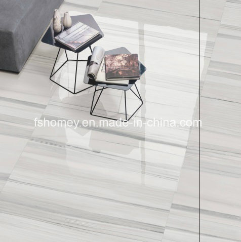 China Iceland White Rustic Glossy Floor