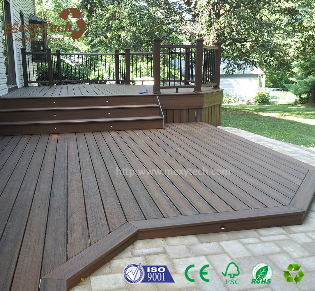 New Tech Eco Friendly Outdoor Wood Plastic Composite Timber Decking