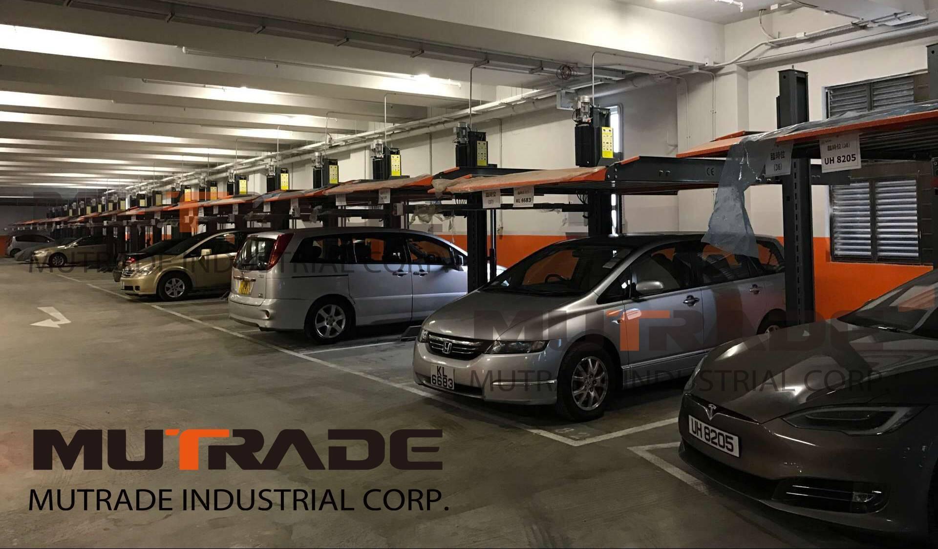 China Hydraulic Lift Double Stacker Two Post Car Basement Parking