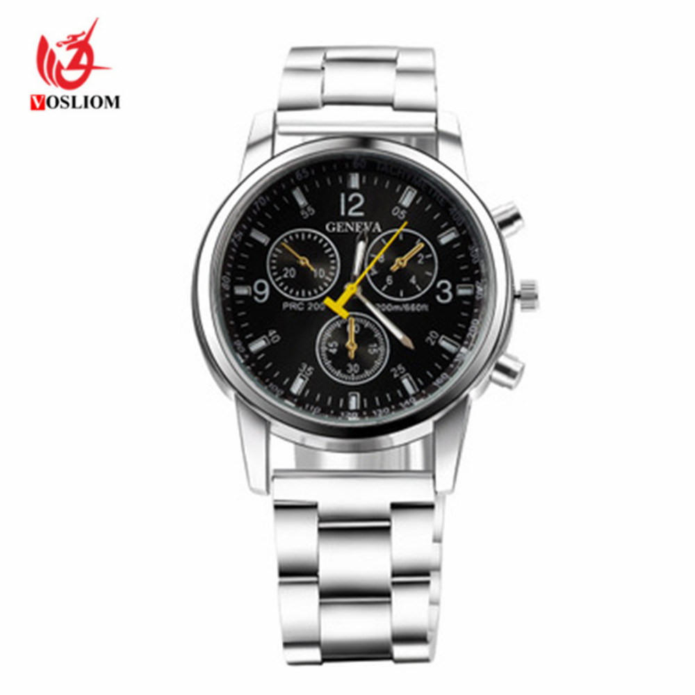 Classic Style Stainless Steel Geneva Quartz Men Watch -V162 pictures & photos
