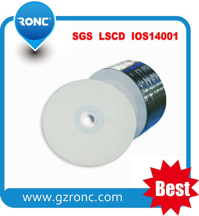 Free Sample 52X 700MB White Inkjet Blank Printable CD-R
