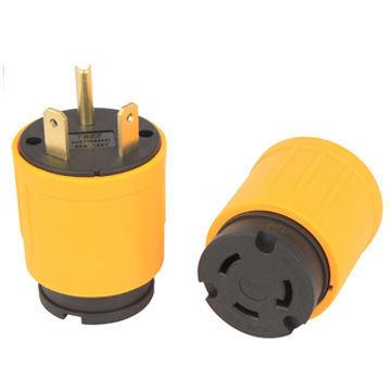adapter rv power connector plug 30a 125v to nema l5-30r receptacle 30a 125v