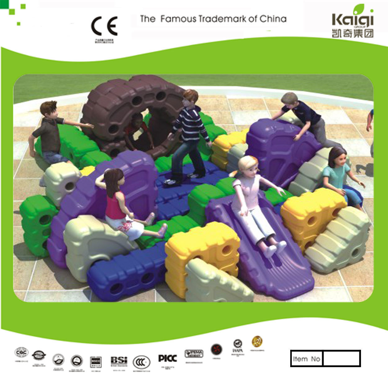 Kaiqi Group Hot Selling Plastic Tangram Block Toy (KQ50128F)