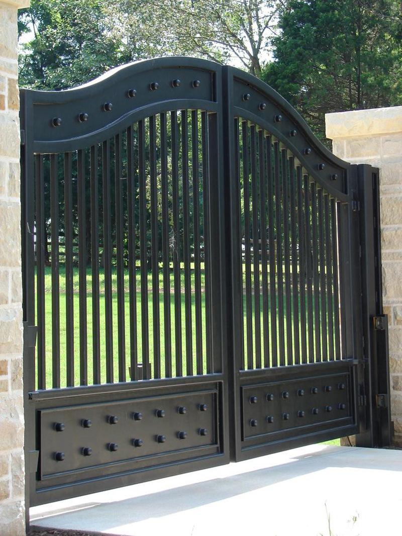 China Elegant Decoratived Metal Front Entrance Wrought Iron