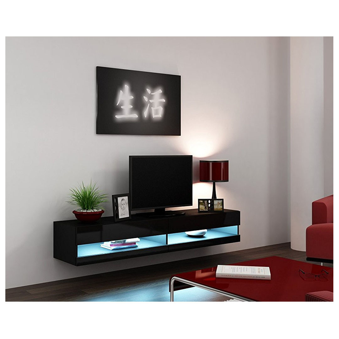 China Modern Living Room Cabinet Design Wall Mount Floating TV Stand ...