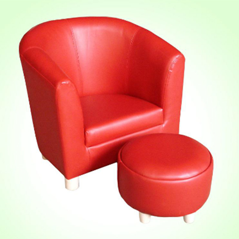 China Round Back Leather Children Furniture/Kids Sofa/Baby Chair (SF ...