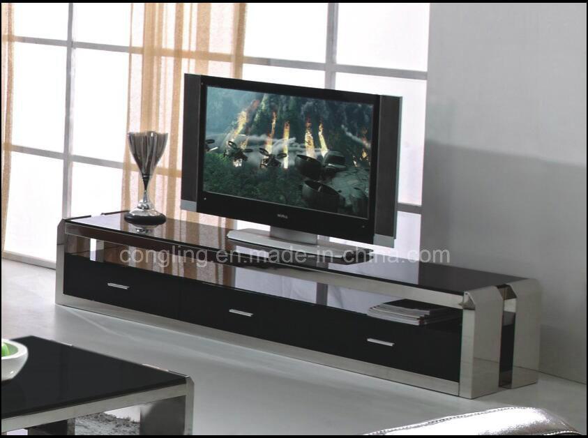 China Elegant Tempered Glass TV Rack / Floor Stand/TV Cabinet   China TV  Rack, TV Cabinet