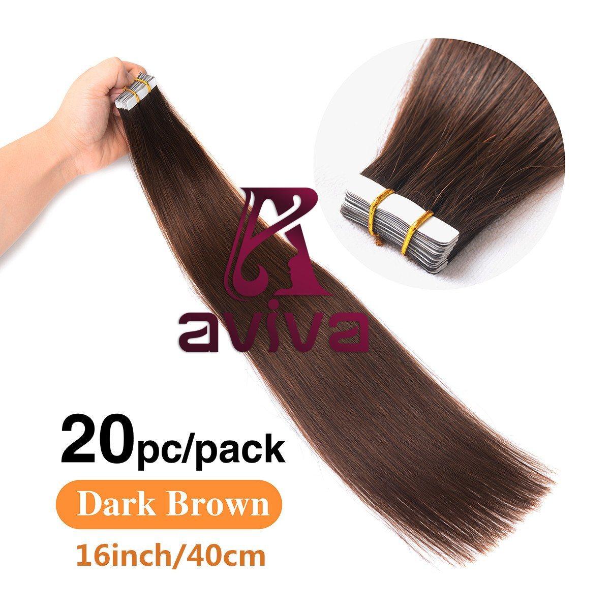 China Aviva Double Side Tape Hair Extension Virgin Hair Skin Weft
