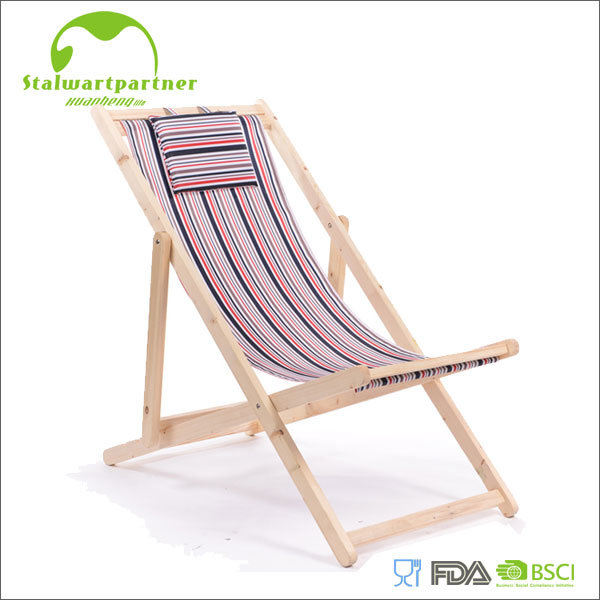 Outdoor Leisure Armres Folding Wooden Beach Chair
