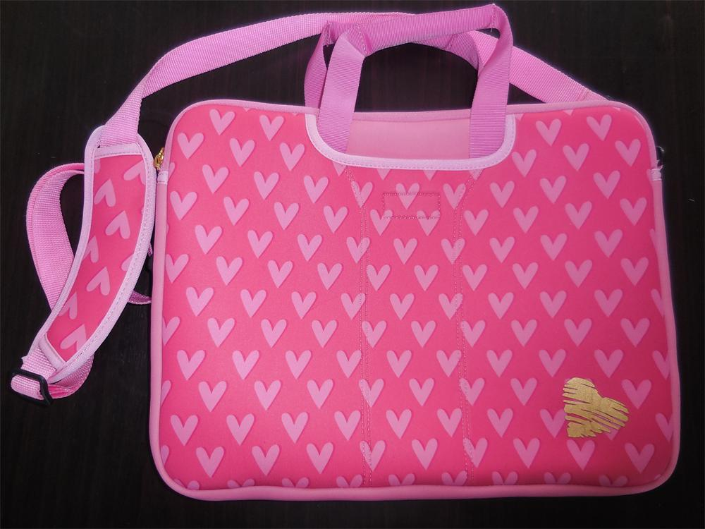 8b5c6a160ad7 [Hot Item] Fashionable Pink Neoprene Laptop Bag for Girls
