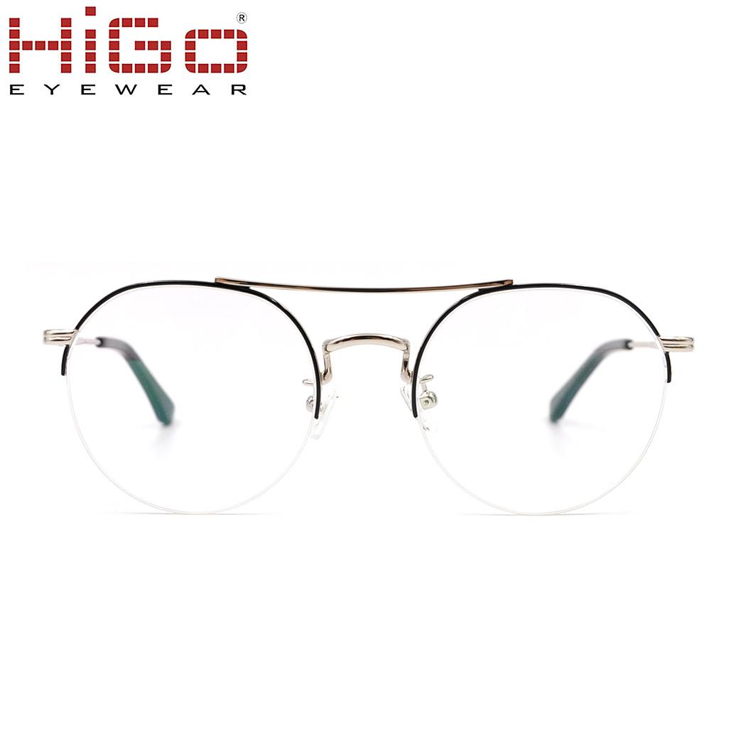 6d13f2967d98 China Fashion Unisex Half Rim Glasses Frame Eyewear with Circular Lens -  China Eyewear