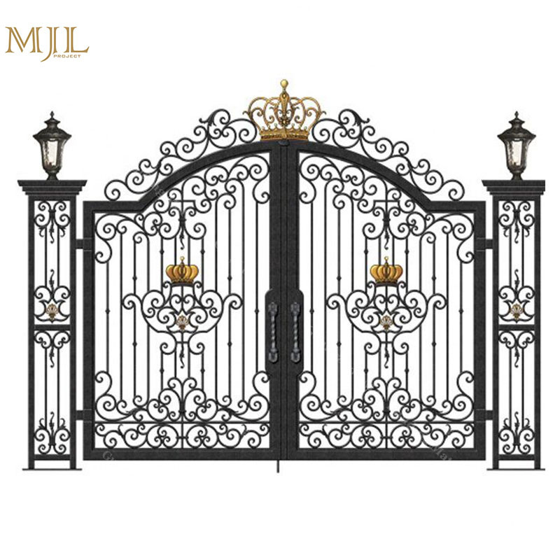Hot Item Best Quality Simple Indian House Steel Main Gate Designs Exterior Wrought Iron Gate