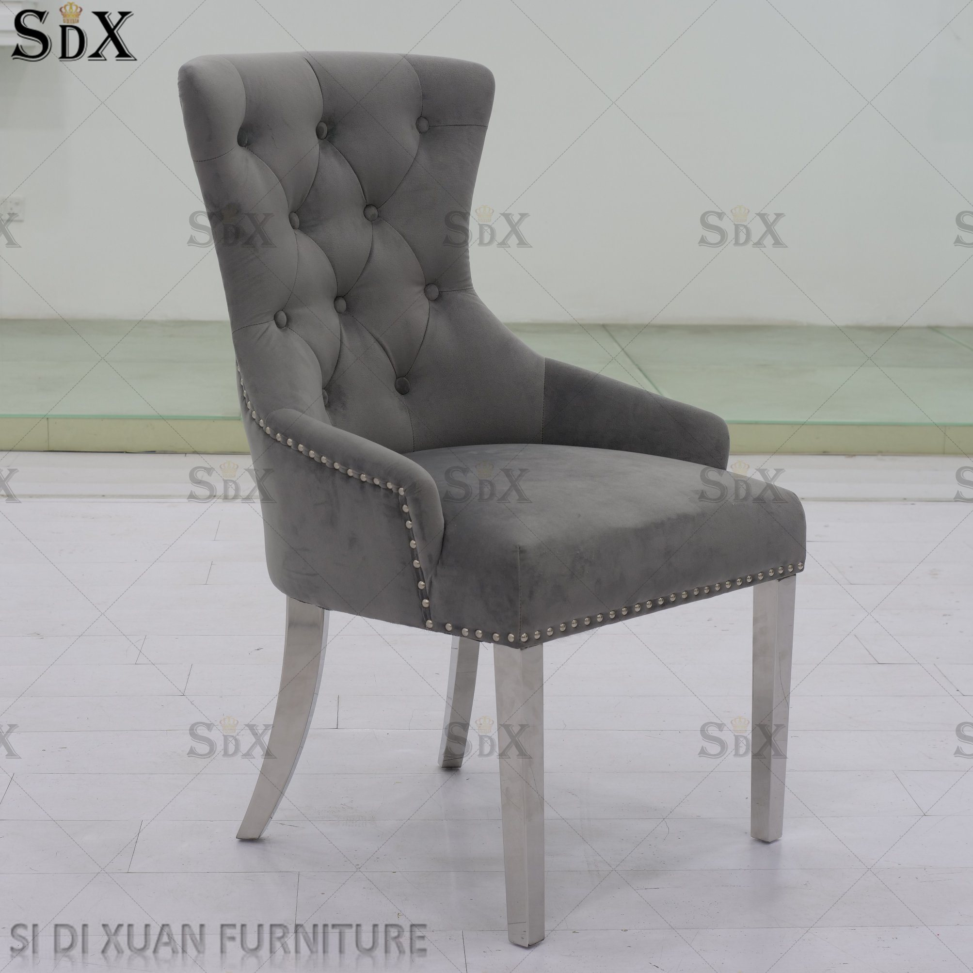 [Hot Item] New Modern Home Design Upholstered Velvet Dining Room Restaurant  Chair Set Dining Furniture