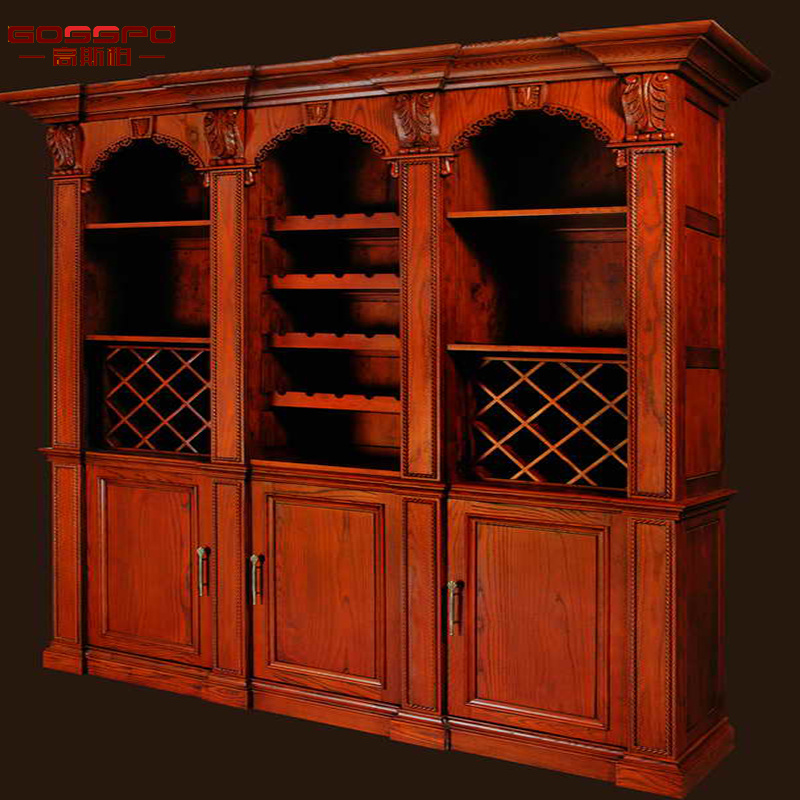 Custom Wood Wine Rack Cabinet