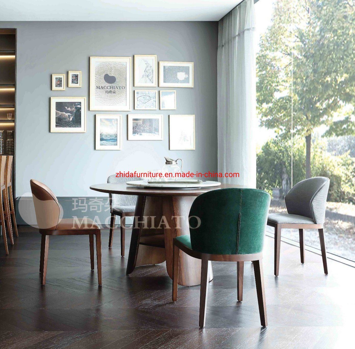 China Modern Home Living Room Furniture Wooden Walnut Dining Table China Dining Table Wooden Table