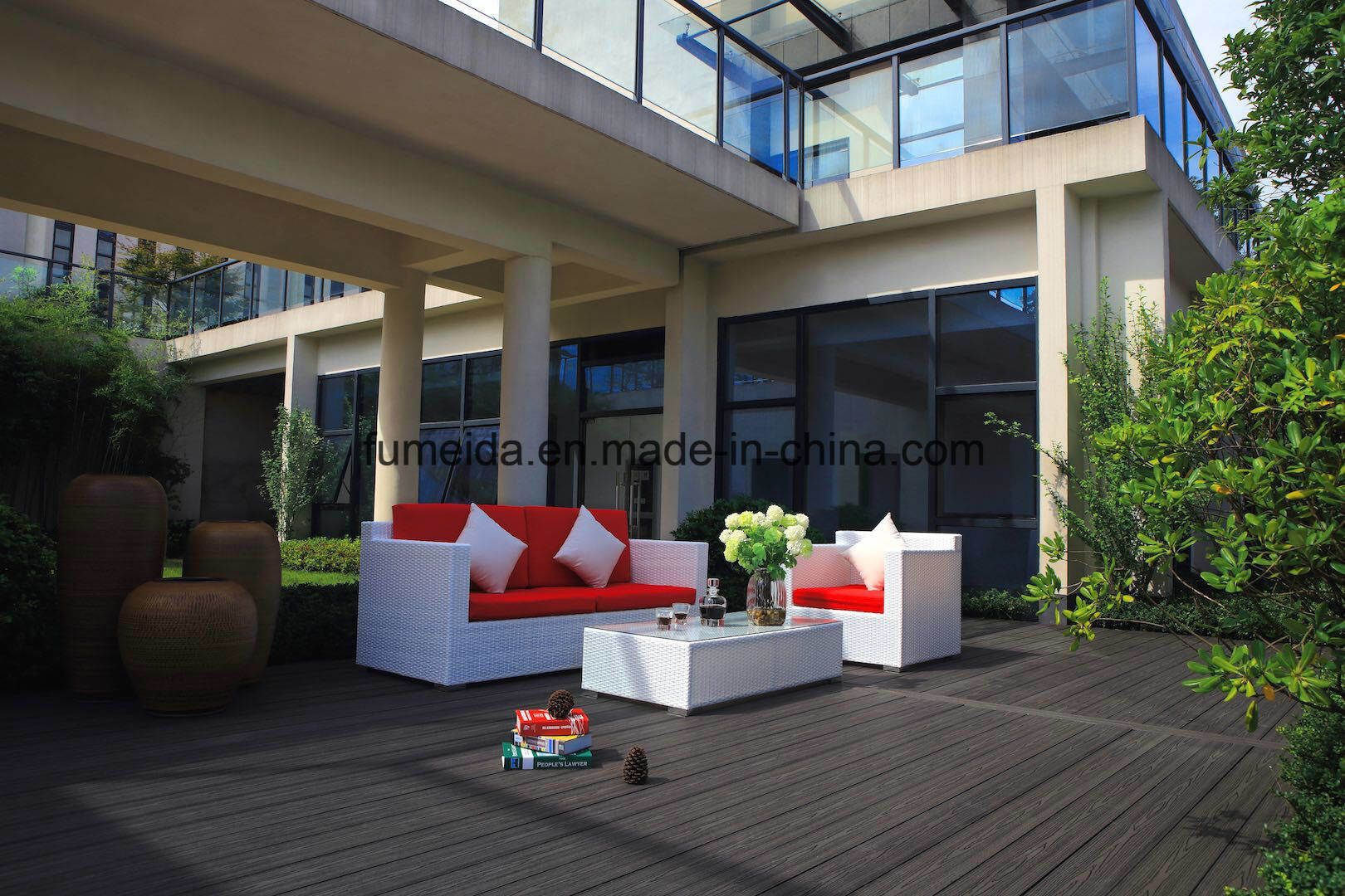 WPC Outdoor Flooring Wood Plastic Composite Decking Dek 001 pictures & photos