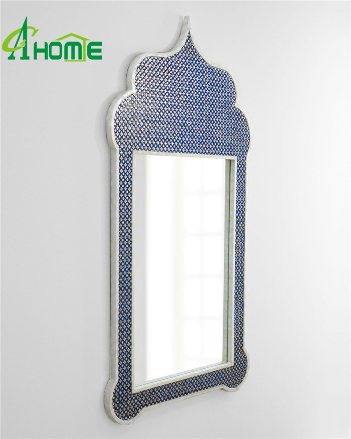 Blue Colour Unique Creative Hanging Wall Mirror for Home Decorative pictures & photos
