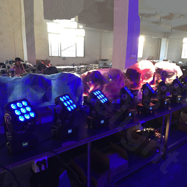 9PCS 10W Mini LED Moving Head Lighting Stage Equipment