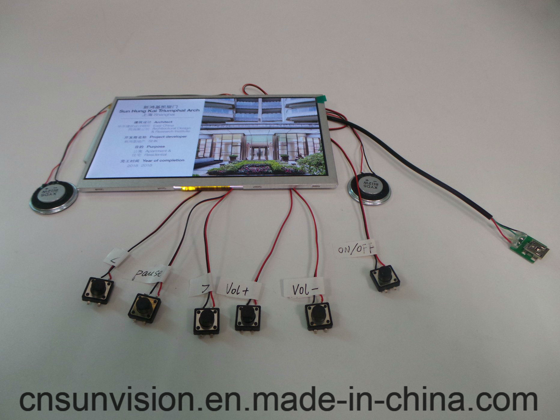 China 7 Lcd Video Greeting Card Sound Module With Buttons China