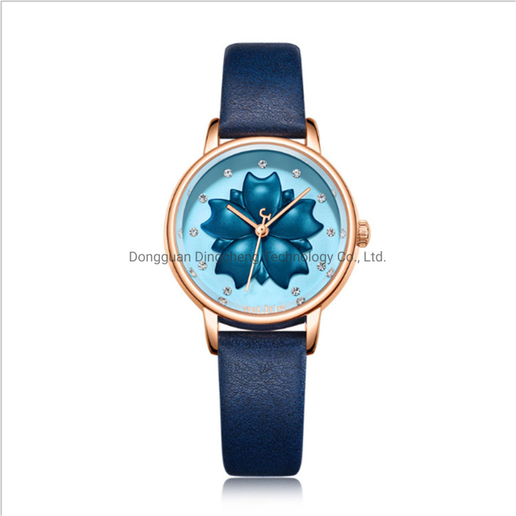 Best Sell Custom Logo Fashion Women Lady Girl Gift Luxury Gold Alloy Wrist Watches Reloj OEM pictures & photos