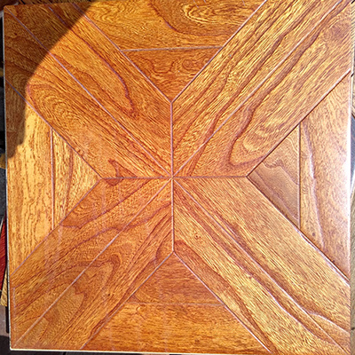 Multilayer UV Art Parquet Engineered Wood Flooring Mosaic Style