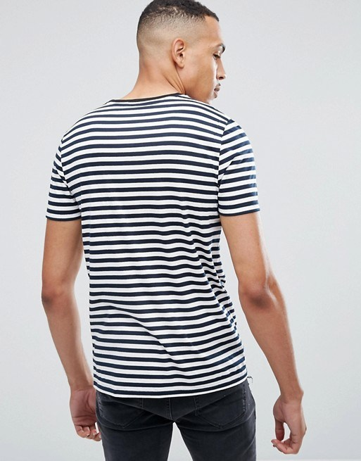 af30ef4de China Mens 100 % Cotton Custom Printed Promotion Tall Stripe T-Shirt in  Navy and White Tee - China T-Shirt, Printing T Shirt