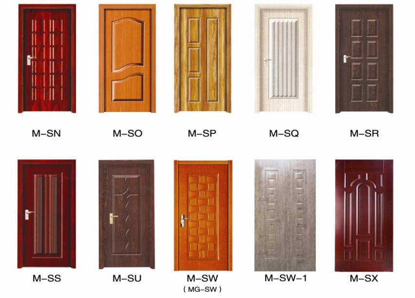 Wood Veneer/Melamine Paper Faced HDF Door Skin pictures & photos