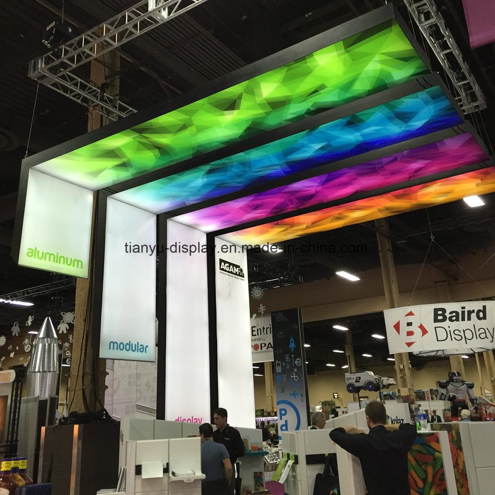 Hot Item Led Fabric L Shape Lightbox For Advertising Commercial Lication Exhibition Booth Display Equipment