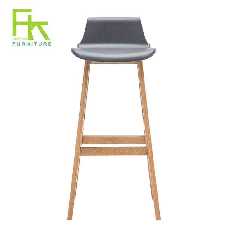 China Modern Wooden Leg Counter Bar High Chair China Bar Chair Wooden Bar Chair