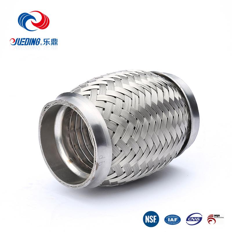 "2 1//4/"" x 8/"" Flex Pipe Tube Stainless Steel Inner Braid Free Shipping!!!"