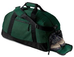 Grey Sport Gym Hiking Duffel w// Cooler Pocket