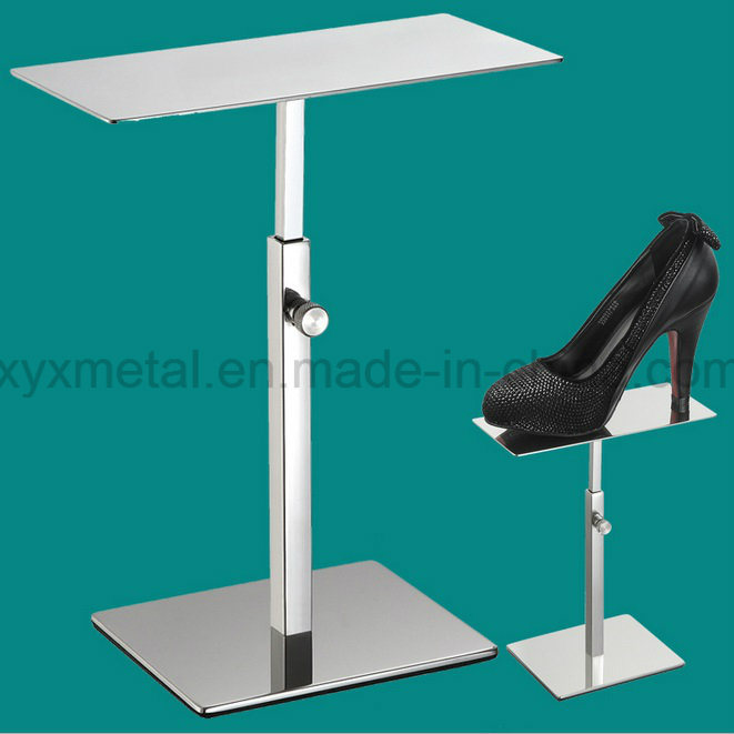 Stainless Steel Shoes Exhibition Holder Table Stand Display Shoe Rack