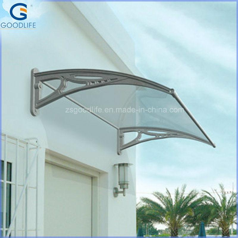 China Polycarbonate Plastic Door Canopy Sun Shade Window