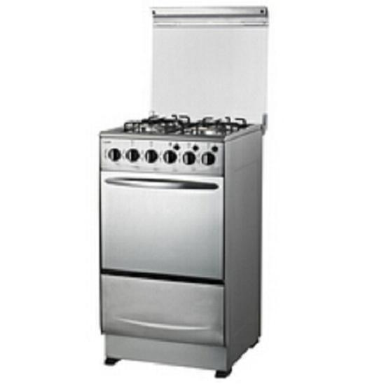 China Full Stainless Steel Cooking Range With Oven And Glass Lid