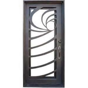 steel security door. Wrought Iron Single Doors In Fashion Design Steel Security (UID-S058) Door